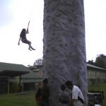 rock wall climber