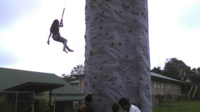 Rock Wall Climber Kona Hawaii