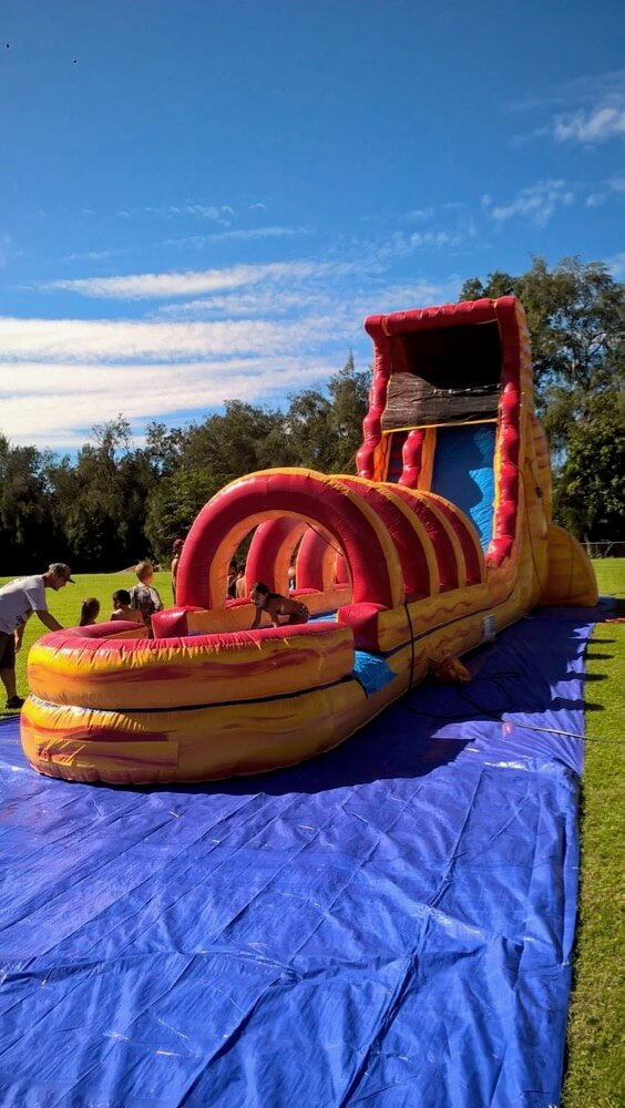 side view of water slide