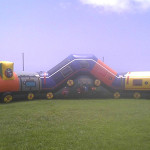 35 ft long walk through inflatable train maze