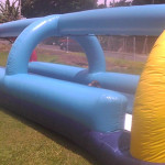 30 ft long double lane wet slide