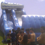 24 ft high wet slide